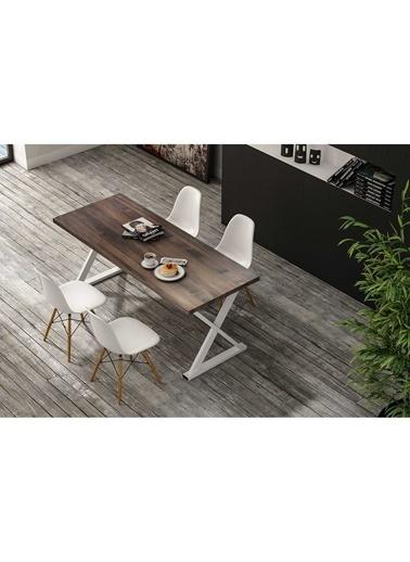 Woodesk Bahar Masif 140x80 Yemek Masası Kahve